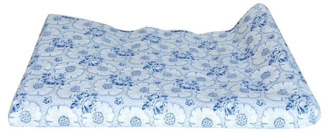Blue Floral Scandinavian Fabric, 2 Pcs