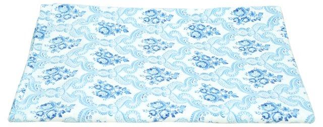 European Duvet Cover, Blue Floral