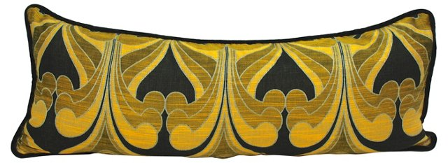 Black & Gold Modern Body Pillow
