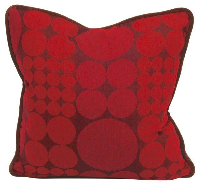 Red Scandinavian  Modern  Pillow