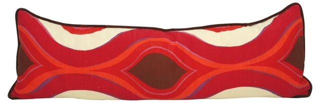 Fuchsia & Brown Modern Body Pillow