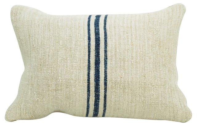 Boudoir Pillow w/ Navy Stripes