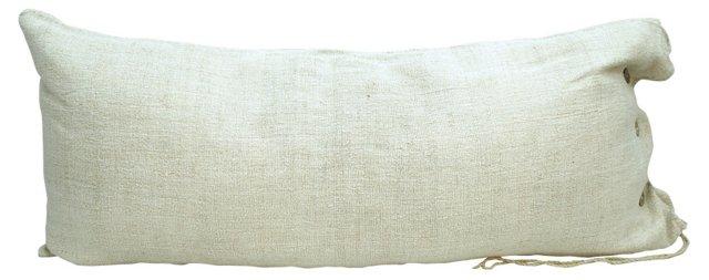 Light  Beige Grain Sack Body Pillow
