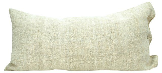 Grain Sack Body  Pillow, Beige