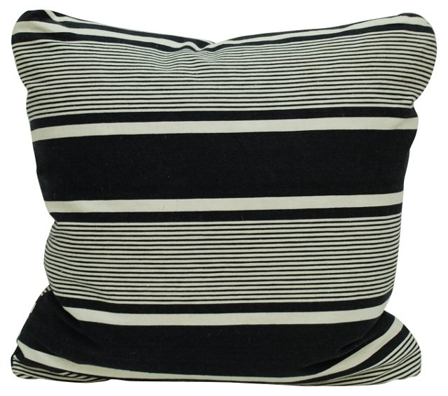 French Cotton  Ticking   Pillow