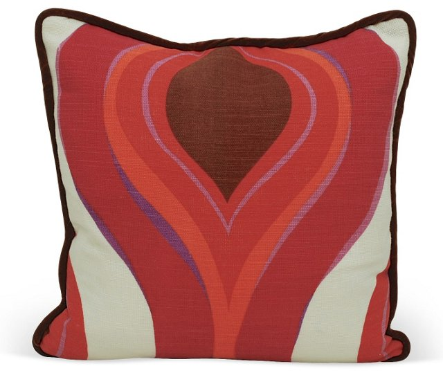 Pink &   Brown Scandinavian Pillow