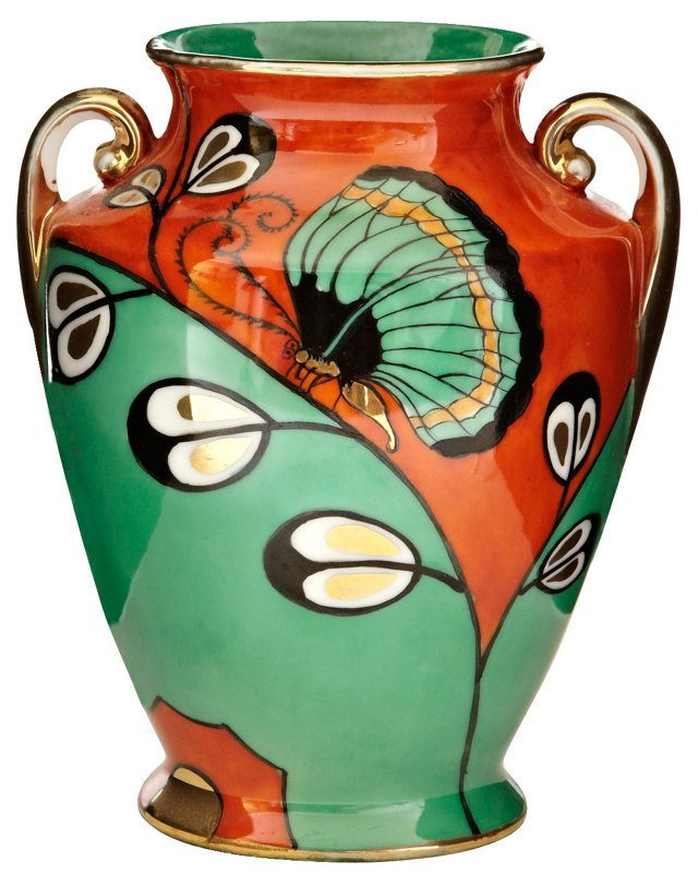 Japanese Vase w/ Butterfly