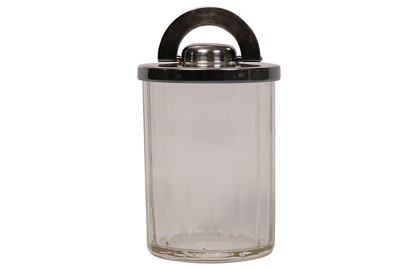 Lidded Glass Jar w/ Modular Silver Lid