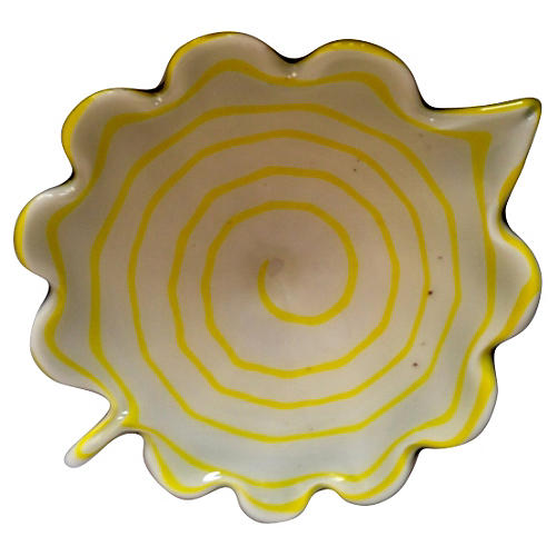 Midcentury Murano Art Glass Floral Tray