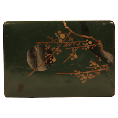 Chinese Green Lacquer Box