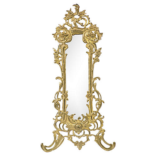 Art Nouveau Gilt Bronze Table Mirror