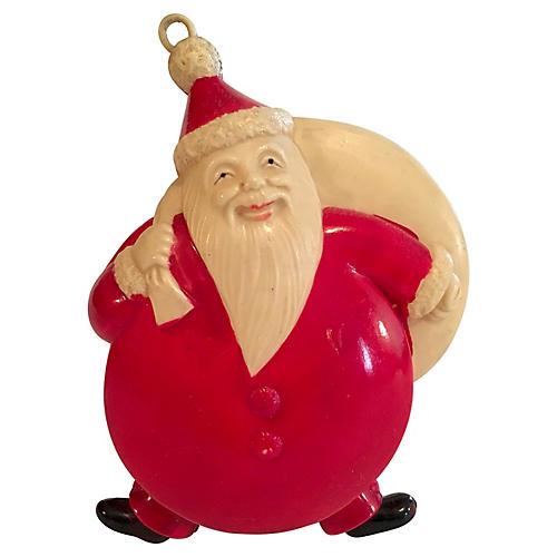 Rare Japanese Celluloid Santa Ornament