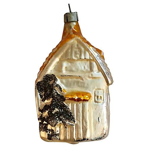 Antique Mercury Glass House Ornament