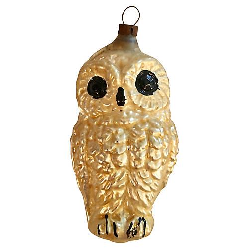 Mercury Glass Owl Ornament