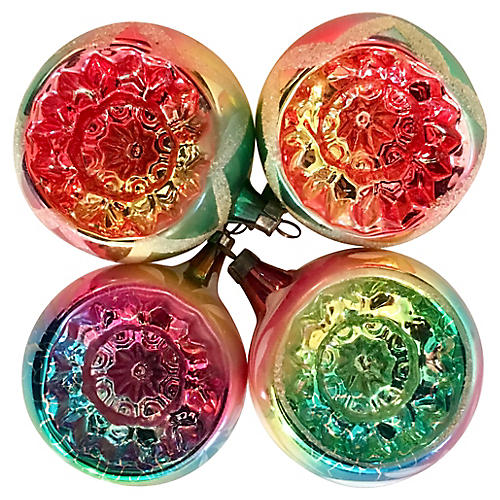 Fancy Mulit-Colored Indent Ornaments