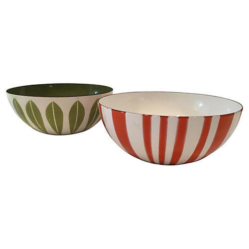 Midcentury Norwegian Enameled Bowls, S/2