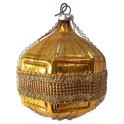 Gold Geometric Ornament w/ Passementerie