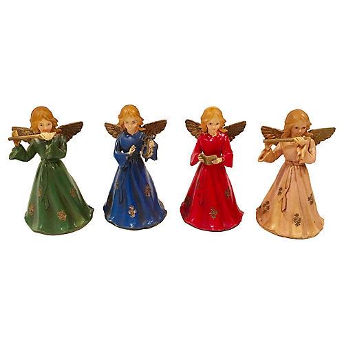 Musical Angel Figures S/4