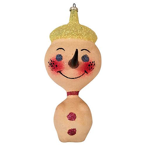 Midcentury Italian Snowman Ornament