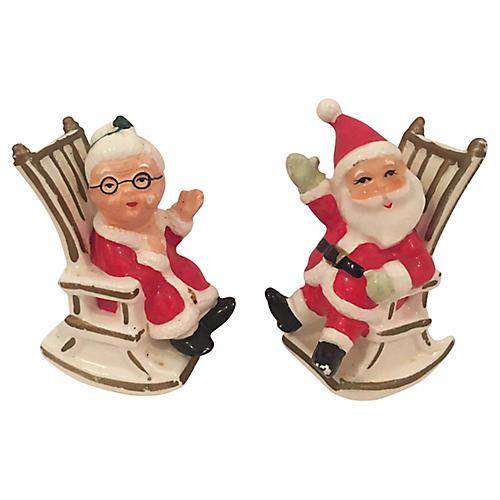Santa & Mrs Claus in Rockers,S&P Shakers