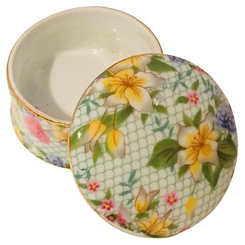 Chintz Floral Porcelain Box