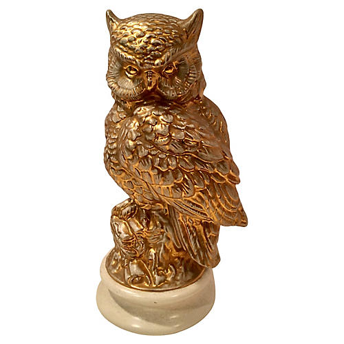 Golden Owl Statue