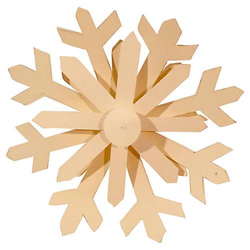 Handmade Paper Snowflake Ornament