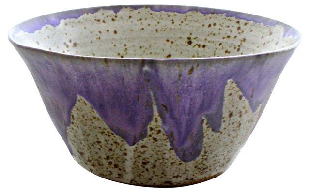 Stoneware Lilac Bowl