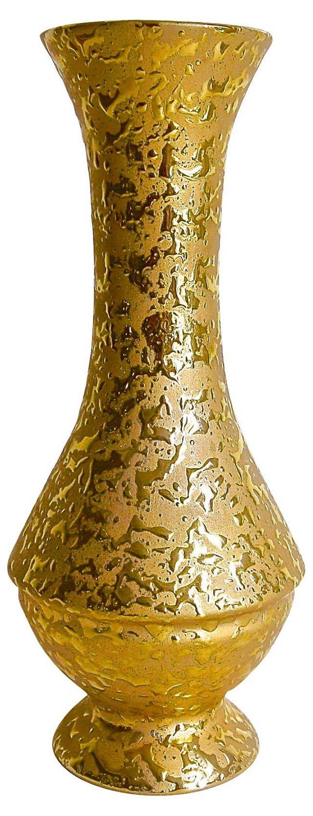 Weeping 22K Gold Gilt Vase