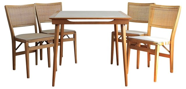 Modernist Game Table & 4 Chairs