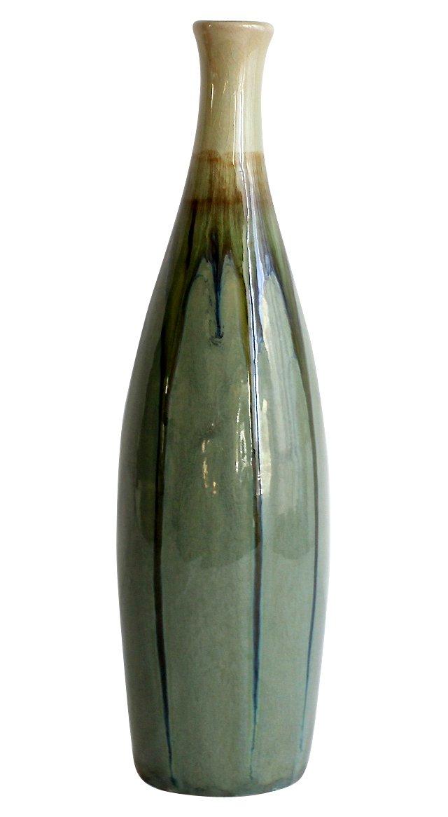 Modernist Drip-Glazed Vase