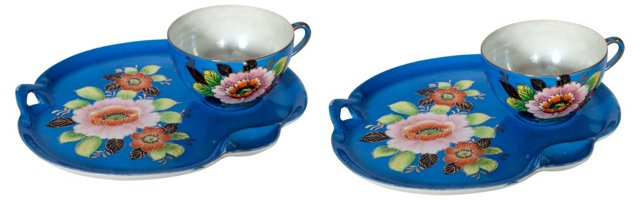 Lusterware Snack Sets, Svc. for 2