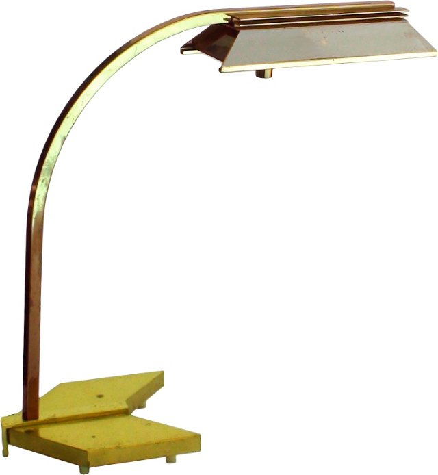 Arched Brass Library Lamp