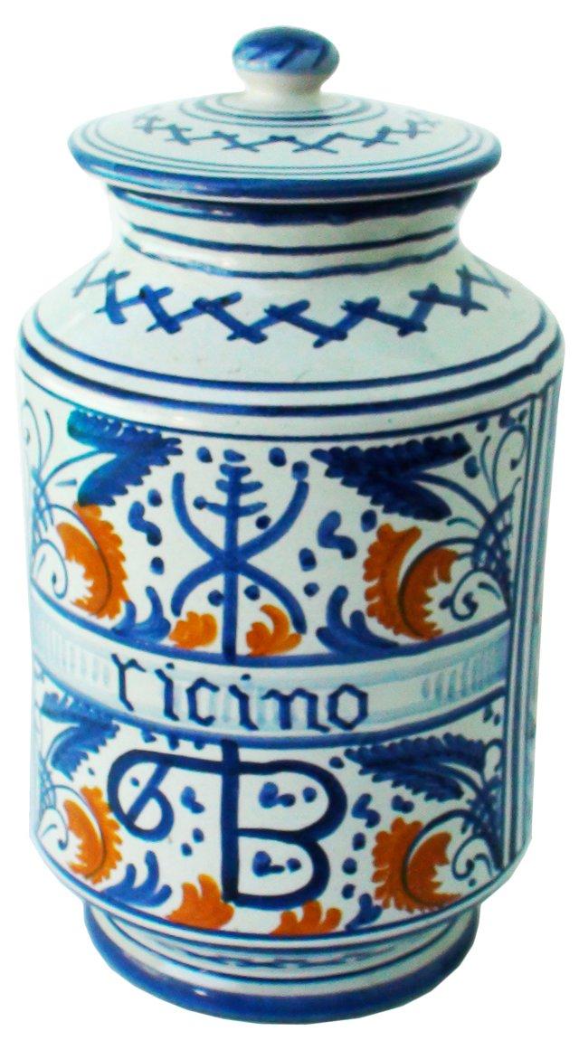 Peccetti Porcelain Lidded Jar