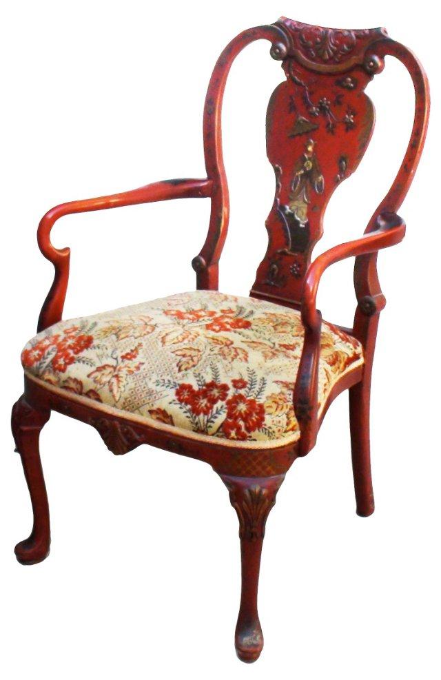 19th-C.  Chinoiserie Armchair