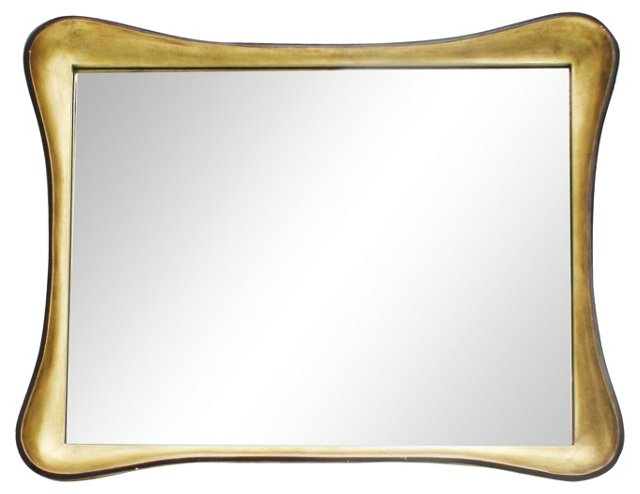 1940s Giltwood & Lacquer Mirror
