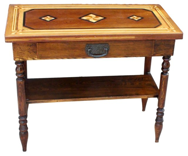 Arts  & Crafts  Marquetry Table