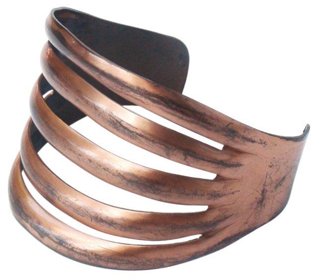 Vintage 5-Band Copper Cuff