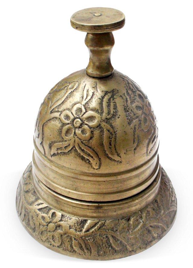 Antique Brass Service Bell