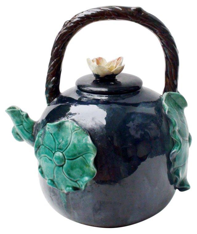 Teapot w/ Lily Pad Motif