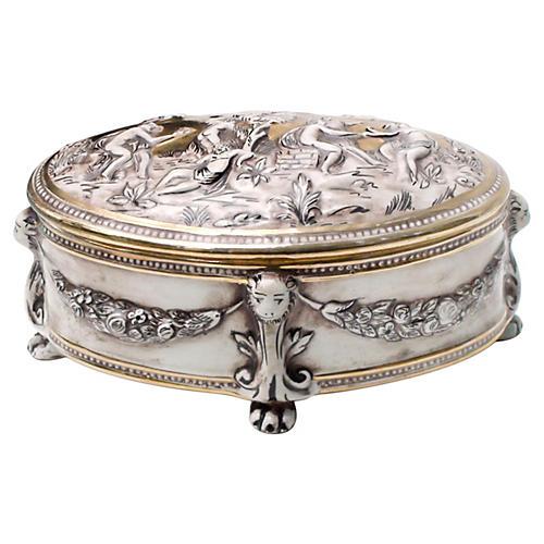 Signed Capodimonte Gilded Box
