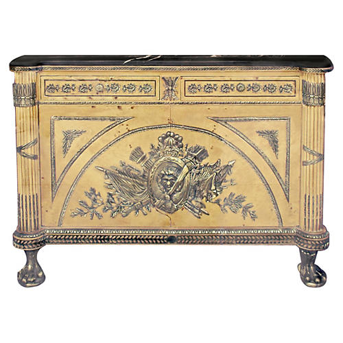 19th-C. French Bronze-Mount Commode