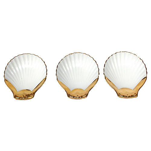 Royal Worchester Clamshell Dishes, S/3