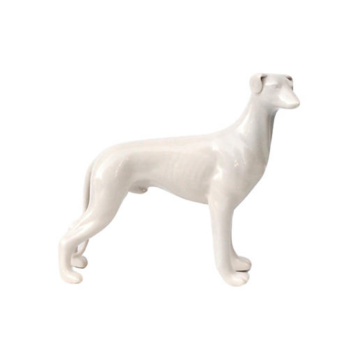 Blanc de Chine Greyhound Statuette