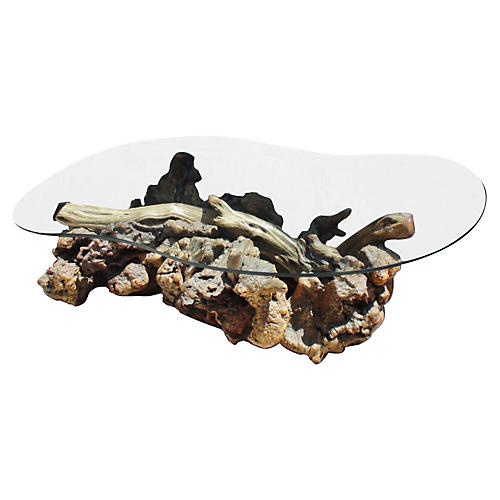 Drift & Burl-Wood Coffee Table