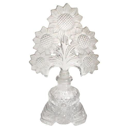 Sunflower Intaglio Cut-Crystal Perfume