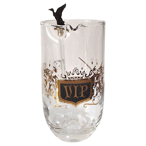 V.I.P. Pitcher w/ Bird Stir Stick, 2-Pcs