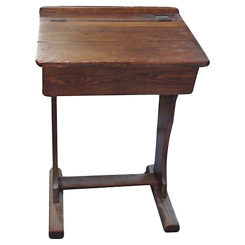 19th-C. English Schoolboy Desk