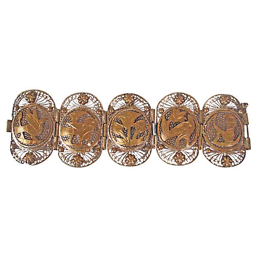 Egyptian Revival Filigree Bracelet
