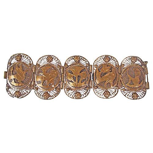 Egyptian Revival Filigree Bracelet